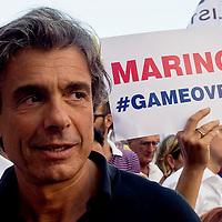 """La protesta di Alfio Marchini: """"Marino game over, nuove elezioni"""""""