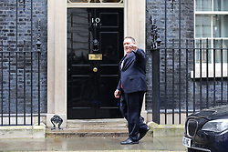 © Licensed to London News Pictures. 30/01/2020. London, UK. U.S. Secretary of State MIKE POMPEO arrives in Downing Street for a meeting with Prime Minister BORIS JOHNSON. Photo credit: Dinendra Haria/LNP