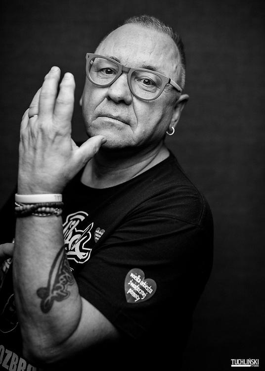 Warszawa, Polska; 09.11.2018 Warszawa. Jurek Owsiak - twórca Wielkiej Orkiestry Świątecznej Pomocy.<br /> Fot. Adam Tuchlinski dla Playboy
