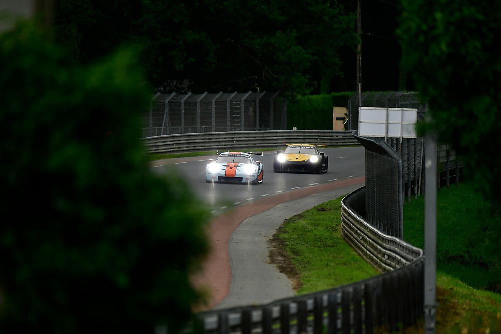 #86 Gulf Racing Porsche 911 RSR: Michael Wainwright, Benjamin Barker, Alex Davison<br /> Thursday 14 June 2018<br /> 24 Hours of Le Mans<br /> 2018 24 Hours of Le Mans<br /> Circuit de la Sarthe  FR<br /> World Copyright: Scott R LePage