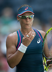 August 28, 2018 - Flushing Meadows, New York, U.S - Samantha Stosur during her match against Caroline Wozniacki on Day 2 of the 2018 US Open at USTA Billie Jean King National Tennis Center on Tuesday August 28, 2018 in the Flushing neighborhood of the Queens borough of New York City. Wozniacki defeats Stosur, 6-3, 6-2. (Credit Image: © Prensa Internacional via ZUMA Wire)