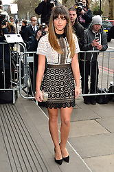 © Licensed to London News Pictures. 08/03/2016. GEORIGA MAY FOOTE arrives for the TRIC Awards. The Television and Radio Industries Club's annual awards ceremony, honour's the best performers and programmes  of the last year .London, UK. Photo credit: Ray Tang/LNP