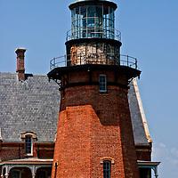 Southeast Light, historic lighthouse on Block Island, Rhode Island.