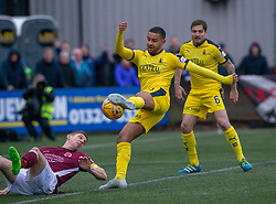 Falkirk's Dennon Lewis. Stenhousemuir 4 v 2 Falkirk, 3rd Round of the William Hill Scottish Cup played 24/11/2018 at Ochilview Park, Larbert.