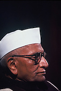 Prime Minister Morarji Desai listens to President Carter speak to the indian parliament in India on January 1, 1978<br /> Photo by Dennis Brack