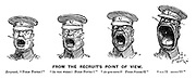 """From the Recruit's Point of View. Sergeant. """"Form fours!"""" """"As you were! Form fours!!"""" """"As you were!! Form fours!!!"""" """"***!!! *****!!!!"""""""