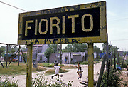 The empoverished slumb of Fiorito where footbaler Diego Maradona was born and grew up, Buenos Aires, Argentina.