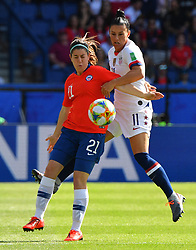 United States Ali Krieger during the France 2019 Women's World Cup Group F football match between USA and Chile, on June 16, 2019, at the Parc des Princes stadium in Paris. Photo by Christian Liewig/ABACAPRESS.COM