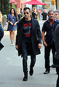 Sept. 10, 2014 - New York City, NY, United States - <br /> <br /> Actor Justin Theroux walks in the East Village on September 10 2014 in New York City<br /> ©Exclusivepix