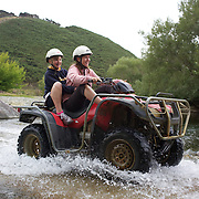 People Quad biking at Happy Valley Adventures, Cable Bay Rd. Nelson New Zealand, 30th January  2011, Photo Tim Clayton.
