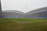 Fog around the Macron Stadium before the The FA Cup 3rd round match between Bolton Wanderers and Crystal Palace at the Macron Stadium, Bolton, England on 7 January 2017. Photo by Mark Pollitt.