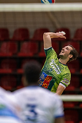 Bas van Bemmelen of Orion in action during the league match between Active Living Orion vs. Amysoft Lycurgus on March 20, 2021 in Doetinchem.