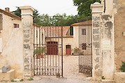 Chateau de Montpezat. Pezenas region. Languedoc. The gate. France. Europe.