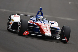 May 18, 2018 - Indianapolis, Indiana, United States of America - TONY KANAAN (14) of Brazil brings his car down the frontstretch during ''Fast Friday'' practice for the Indianapolis 500 at the Indianapolis Motor Speedway in Indianapolis, Indiana. (Credit Image: © Chris Owens Asp Inc/ASP via ZUMA Wire)