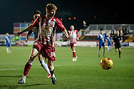 Brad Halliday (Accrington Stanley) watches the ball before controlling it during the Sky Bet League 2 match between Accrington Stanley and Hartlepool United at the Fraser Eagle Stadium, Accrington, England on 19 January 2016. Photo by Mark P Doherty.