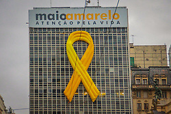 """May 26, 2019 - SãO Paulo, Brazil - SÃO PAULO, SP - 26.05.2019: MAIO AMARELO EM SÃO PAULO - The """"May Yellow"""" campaign was born with the purpose of calling and alerting society to the risks of trc acnts.nts. Sunday (26) (Credit Image: © Bruno Amaral/Fotoarena via ZUMA Press)"""