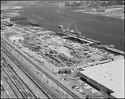 """Ackroyd 14111-1 """"Schnitzer Industires Inc. aerial of plant. August 20, 1966"""" (NW Portland waterfront)"""