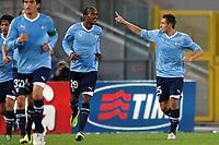 """Miroslav KLOSE (1R) esultanza dopo il gol<br /> Goal Celebration<br /> Roma 26/10/2011 Stadio """"Olimpico""""<br /> Football Calcio Serie A 2011/2012 <br /> Lazio Vs Catania<br /> Foto Insidefoto Andrea Staccioli"""