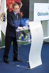 July 18, 2018 - Madrid, Spain - Real Madrid president, Florentino Perez, during the presentation of Alvaro Odriozola as new Real Madrid player at Santiago Bernabéu Stadium in Madrid, Spain. July 18, 2018. (Credit Image: © Coolmedia/NurPhoto via ZUMA Press)