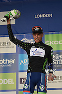Xandro Meurisse of Belgium and Wanty Group Gobert wins the King of the Montains jersey during the Tour of Britain 2016 stage 8 , London, United Kingdom on 11 September 2016. Photo by Martin Cole.