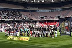 April 8, 2018 - Nice, France - Debut de match - equipe du FC Rennes et de l OGC Nice (Credit Image: © Panoramic via ZUMA Press)