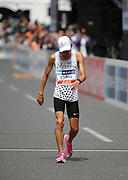 Suguru Osako places third in the men's race in 2:11:41 during the Marathon Grand Championship, Sunday Sept. 15 2019, in Tokyo. (Agence SHOT/Image of Sport)