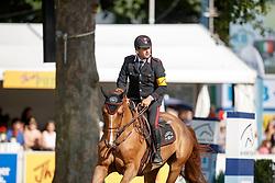 Gaudiano Emanuele, ITA, Corbanus<br /> Internationales Wiesbadener PfingstTurnier 2017<br /> © Hippo Foto - Stefan Lafrentz