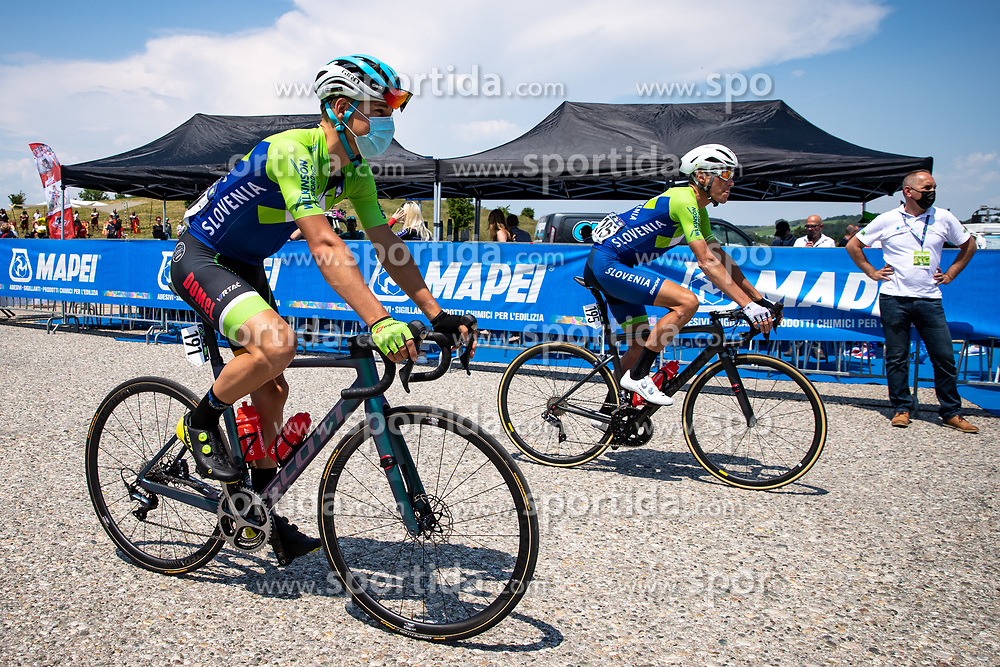 Martin LAVRIC of Team Slovenia and Janez BRAJKOVIC of Team Slovenia during 1st Stage of 27th Tour of Slovenia 2021 cycling race between Ptuj and Rogaska Slatina (151,5 km), on June 9, 2021 in Slovenia. Photo by Matic Klansek Velej / Sportida