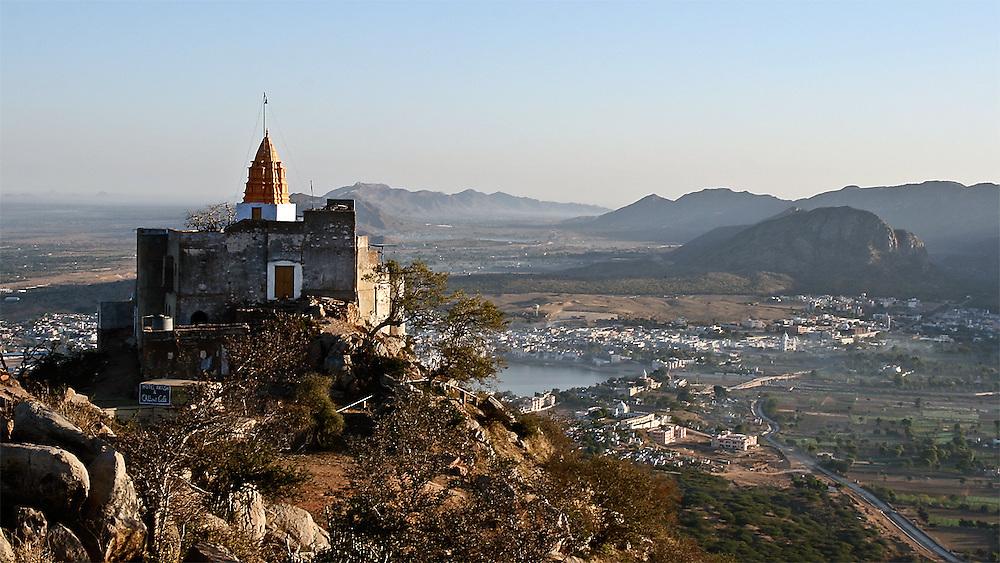 Mountain Temple, pushkar, India