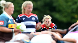 Amber Reed (c) of Bristol Ladies watches the scrum take place- Mandatory by-line: Robbie Stephenson/JMP - 18/09/2016 - RUGBY - Cleve RFC - Bristol, England - Bristol Ladies Rugby v Aylesford Bulls Ladies - RFU Women's Premiership