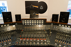 An Abbey Road Studios EMI TG12345 MK IV recording console, which will be sold by Bonhams at their TCM Presents...Rock and Roll Through the Lens sale in New York on March 27, and is on display at Bonhams Knightsbridge saleroom. The console was used by Pink Floyd to record their landmark album, The Dark Side of the Moon. © Licensed to London News Pictures. 20/03/2017. London, UK. Photo credit: Ray Tang/LNP