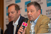 Peter Dodd Welcome to Yorkshire Commercial Director during the Eve of tour press conference ahead of the first stage of the Tour de Yorkshire in the Leeds Civic Hall, Leeds, United Kingdom on 1 May 2019.