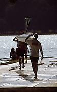 Barcelona,  SPAIN, 1992 Olympic Regatta. Lake Banyoles, Nr Barcelona SPAIN,  [Photo, Peter Spurrier/Intersport-images]......