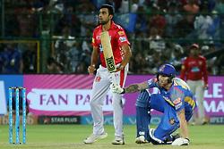 May 8, 2018 - Jaipur, Rajasthan, India - Rajasthan Royals batsman Ben Stokes plays a shot  during the IPL T20 match against Kings XI Punjab at Sawai Mansingh Stadium in Jaipur,Rajasthan,India on 8th May,2018.(Photo By Vishal Bhatnagar/NurPhoto) (Credit Image: © Vishal Bhatnagar/NurPhoto via ZUMA Press)