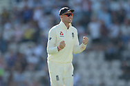 Joe Root of England celebrates the wicket of Mohammed Shami of India during the fourth day of the 4th SpecSavers International Test Match 2018 match between England and India at the Ageas Bowl, Southampton, United Kingdom on 2 September 2018.