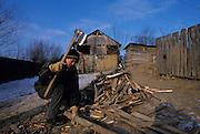 Cleja village, Klésza in Hungarian, traditional work of csango farmers.
