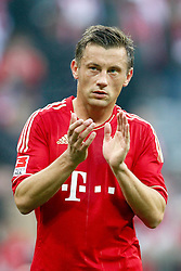29.10.2011, Allianz Arena, Muenchen, GER, 1.FBL,  FC Bayern Muenchen vs 1. FC Nuernberg, im Bild Ivica Olic (Bayern #11) bedankt sich bei den Fans // during the match FC Bayern Muenchen vs 1. FC Nuernberg, on 2011/10/29, Allianz Arena, Munich, Germany, EXPA Pictures © 2011, PhotoCredit: EXPA/ nph/  Straubmeier       ****** out of GER / CRO  / BEL ******