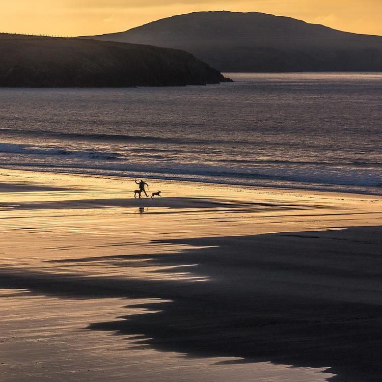 Last light, Whitesands Bay, Pembrokeshire, Wales.