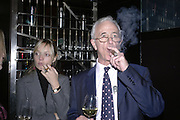 Jemma Freeman and Simon Chase, Drinks party to launch a new Thomas Pink shirt called The Mogul which has a pocket which houses one's cigar. Hostyed by the Spectator and Thomas Pink. Floridita. Wardour St. London. 1 November 2006. -DO NOT ARCHIVE-© Copyright Photograph by Dafydd Jones 66 Stockwell Park Rd. London SW9 0DA Tel 020 7733 0108 www.dafjones.com