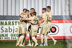 Players od Mura celebrating during football match between NS Mura and PSV Eindhoven in Third Round of UEFA Europa League Qualifications, on September 24, 2020 in Stadium Fazanerija, Murska Sobota, Slovenia. Photo by Blaz Weindorfer / Sportida