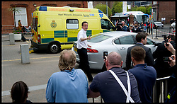 Leader of the Conservative Party David Cameron and his wife Samantha (not in shot) leave the Birmingham Children's Hospital, Thursday April 29, 2010. Photo By Andrew Parsons / i-Images.
