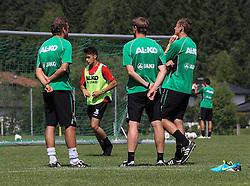 16.07.2013, Trainingsplatz, Walchsee, AUT, 1. FBL, Augsburg Trainingslager, im Bild Das Trainerteam ( v.li. Markus WEINZIERL, Wolfgang BELLER und Tobias ZELLNER) beobachten Arif EKIN (FC Augsburg #31) // during a Training Session of German Bundesliga Club Augsburg at the Training Ground, Walchsee, Austria on 2013/07/17. EXPA Pictures © 2013, PhotoCredit: EXPA/ Eibner/ Klaus Rainer Krieger<br /> <br /> ***** ATTENTION - OUT OF GER *****