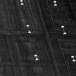 Basketball courts Aerial views of artistic patterns in the earth.