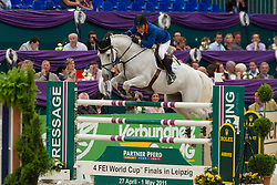 Schroder Gerco (NED) - Eurocommerce New Orleans<br /> Rolex FEI World Cup Final Jumping Leipzig 2011<br /> © Dirk Caremans