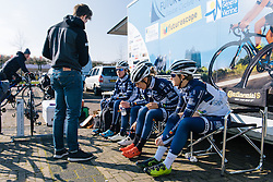 Team talk in the Poitou Futuroscope camp - Ronde van Drenthe 2016, a 138km road race starting and finishing in Hoogeveen, on March 12, 2016 in Drenthe, Netherlands.