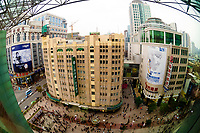 Overview of people on the Nanjing Road pedestrian street, Shanghai, China
