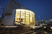 Israel, Tel Aviv The reconstructed building of Habimah, Israel's National Theatre at night (October 2012)