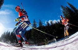 KRCMAR Michal (CZE) and LESSER Erik (GER) competes during Men 12,5 km Pursuit at day 3 of IBU Biathlon World Cup 2014/2015 Pokljuka, on December 20, 2014 in Rudno polje, Pokljuka, Slovenia. Photo by Vid Ponikvar / Sportida