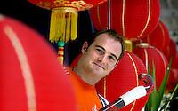 WK Hockey. Oranje -doelman Guus Vogels bij verhaal sport