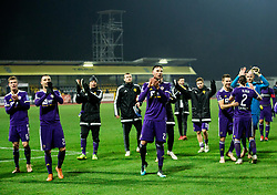 Players of Maribor celebrate after winning during football match between NK Domzale and NK Maribior in 18th Round of Prva liga Telekom Slovenije 2018/19, on November 11, 2018 in Sportni Park, Domzale, Slovenia. Photo by Vid Ponikvar / Sportida